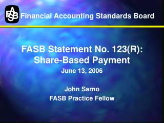 Financial Accounting Standards Board