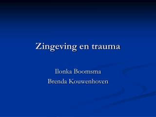 Zingeving en trauma