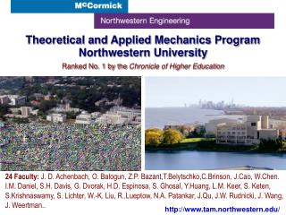 Theoretical and Applied Mechanics Program Northwestern University