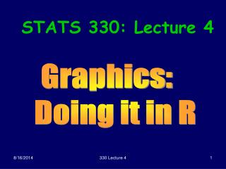 STATS 330: Lecture 4
