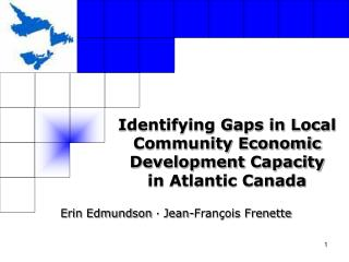 Identifying Gaps in Local Community Economic Development Capacity in Atlantic Canada