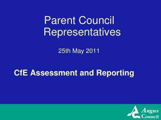 CfE Assessment and Reporting