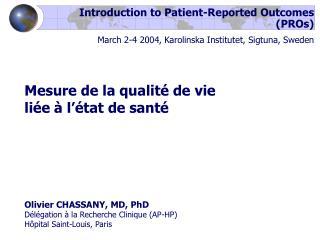 Mesure de la qualité de vie  liée à l'état de santé