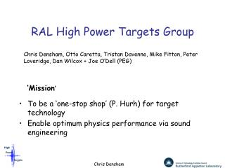RAL High Power Targets Group