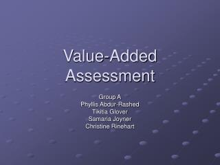 Value-Added Assessment