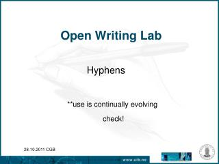 Open Writing Lab