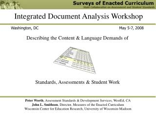 Integrated Document Analysis Workshop