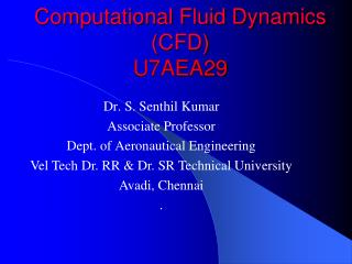 Computational Fluid Dynamics (CFD) U7AEA29