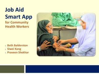 Job Aid  Smart App  for Community  Health Workers