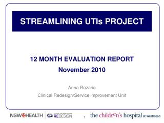 STREAMLINING UTIs PROJECT