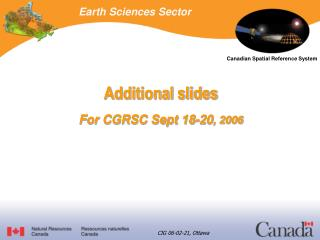 Earth Sciences Sector