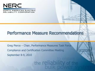Performance Measure Recommendations