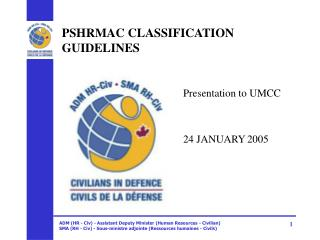 PSHRMAC CLASSIFICATION GUIDELINES