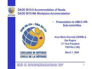 DAOD 5015-0 Accommodation of Needs DAOD 5015-WA Workplace Accommodation