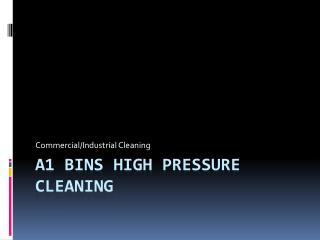 Commercial High Pressure Cleaning