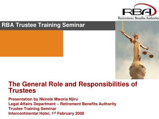 RBA Trustee Training Seminar