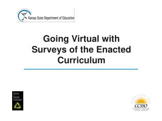 Going Virtual with Surveys of the Enacted Curriculum