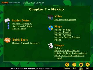 Chapter 7 – Mexico