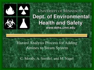 U NIVERSITY OF  M INNESOTA Dept. of Environmental  Health and Safety dehs.umn
