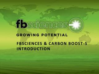 FBSCIENCES & CARBON BOOST-S INTRODUCTION