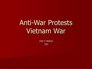 Anti-War Protests Vietnam War