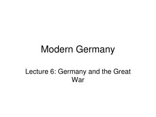 Modern Germany