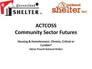 ACTCOSS Community Sector Futures