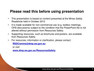 Please read this before using presentation