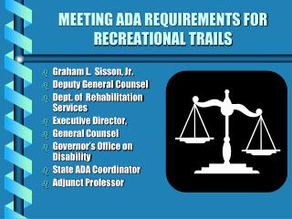 MEETING ADA REQUIREMENTS FOR RECREATIONAL TRAILS