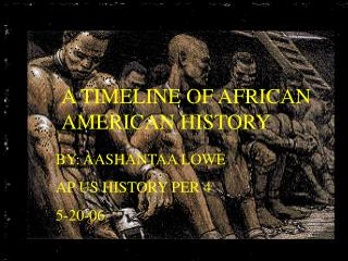 A TIMELINE OF AFRICAN AMERICAN HISTORY