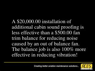 Turbine Fan  Trim Balance