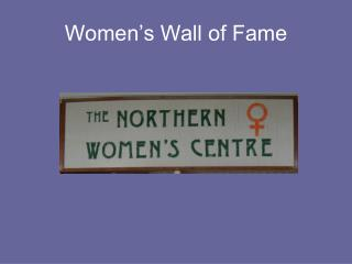 Women's Wall of Fame