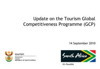 Update on the Tourism Global Competitiveness Programme (GCP)