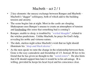 Macbeth – act 2 / 1