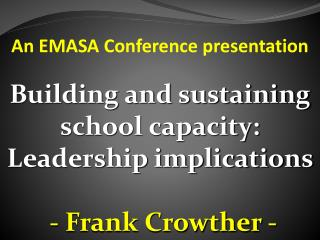 An EMASA Conference presentation