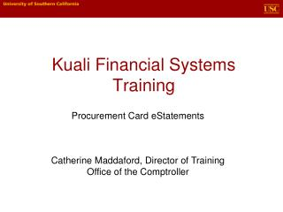 Kuali Financial Systems Training