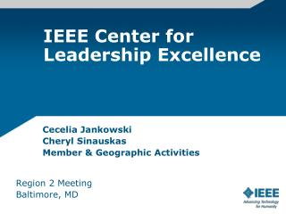 IEEE Center for Leadership Excellence
