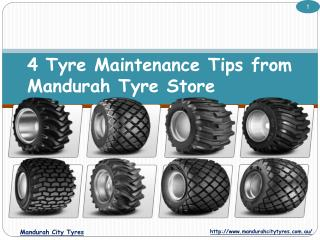 4 Tyre Maintenance Tips from Mandurah Tyre Store