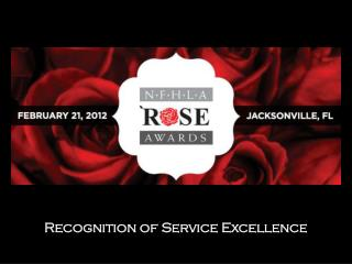 Recognition of Service Excellence