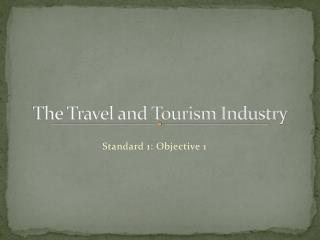 The Travel and Tourism Industry