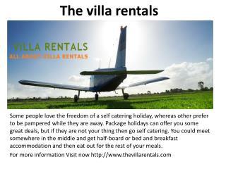 The villa rentals