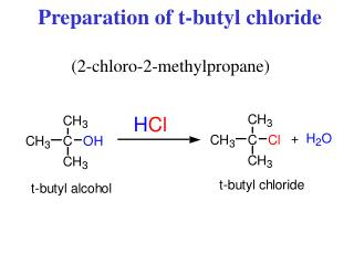 Preparation of t-butyl chloride