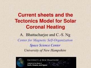 Current sheets and the Tectonics Model for Solar Coronal Heating