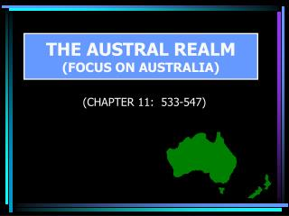 THE AUSTRAL REALM (FOCUS ON AUSTRALIA)