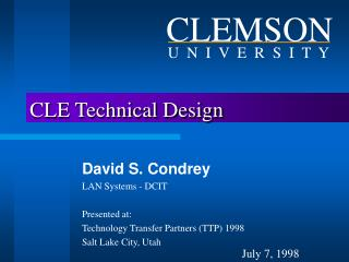 CLE Technical Design