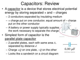 Capacitors: Review