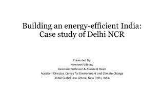 Building an energy-efficient India: Case study of Delhi NCR