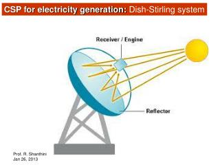 CSP for electricity generation:  Dish-Stirling system