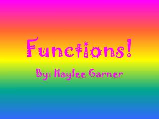 Functions!