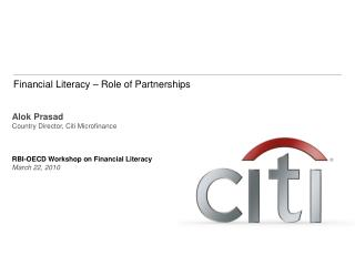 Financial Literacy – Role of Partnerships
